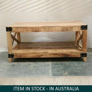 Cromer Indian Solid Wood Coffee Table Natural