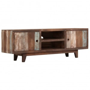 AVALON Solid wood 2 Door & 2 Shelf Tv Unit Brown