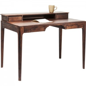 Boston Taper Contemporary Solid Wood Study Desk Console Table Walnut 110 cm