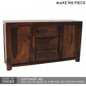 Contemporary Boston Sideboard Chocolate Brown 1.5m