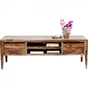 Boston Taper Contemporary Solid Wood TV Unit Natural 145x50x50cm
