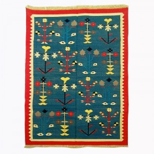 Kilim Wool Handwoven Cotton Dhurrie Durry Rug Jute Floor Covering Pattern 11