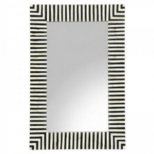 Maaya Bone Inlay Mirror Frame - Botanic Pattern 60x5x90cm