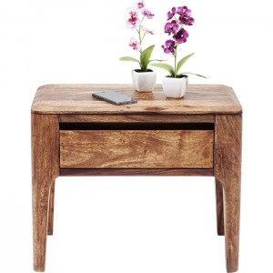 Boston Taper Contemporary Solid Wood 1 Drawer Bedside Side Table Natural