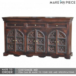 Jali Hand carved Solid wood Sideboard Brown 1.5M