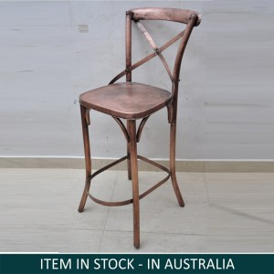 Industrial Metal Iron Copper Bar Chair
