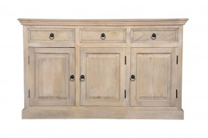 MADE TO ORDER Indian Mango Classic Wooden Sideboard White