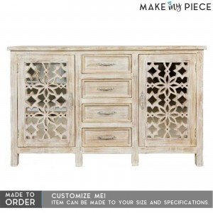 French Arched Design Solid wood Sideboard