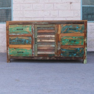 Recycled Reclaimed wood Sideboard 150cm Rustic