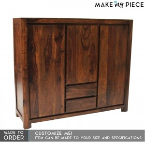 Contemporary Boston Sideboard High board Chocolate Brown