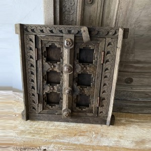 Indian Antique Hand Carved Indian Small Doors Panel Amira 30cm