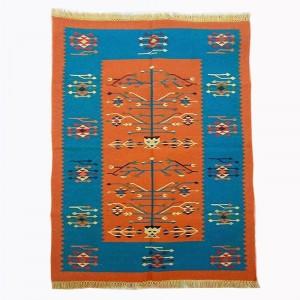 Kilim Wool Handwoven Cotton Dhurrie Durry Rug Jute Floor Covering Pattern 14