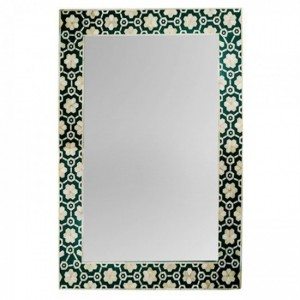 Maaya Bone Inlay Mirror Frame - Flower Design 60x5x90cm