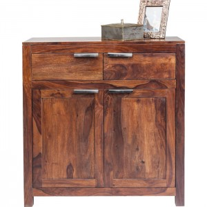 Boston Silver Contemporary Solid Wood Dresser 2 Drawer and 2 Door