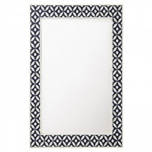 Maaya Bone Inlay Mirror Frame - Cross Design 60x5x90cm