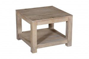 MADE TO ORDER Indian Mango Classic Wooden Side Table 60 x 60 x 45 cm