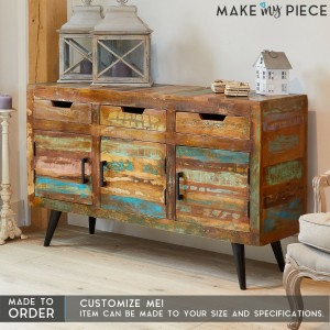 ASPEN Industrial Reclaimed wood Metal Sideboard
