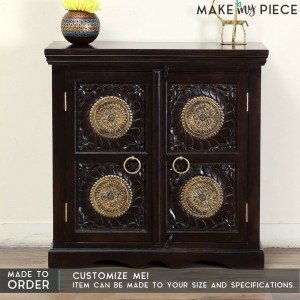Antique Brass work Solid wood Sideboard 90cm