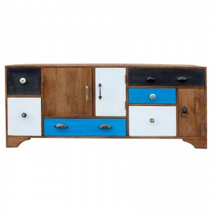 Vivid Colour Contemporary Mango Sideboard Buffet TV Unit 160cm
