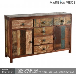 Reclaimed Timber 2 Door 6 Drawers Sideboard