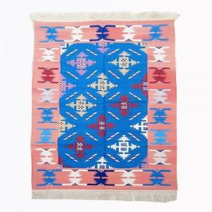 Kilim Wool Handwoven Cotton Dhurrie Durry Rug Jute Floor Covering Pattern 18
