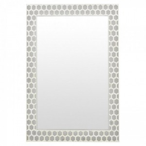 Maaya Bone Inlay Mirror Frame - Hexagon Design 90x5x120cm