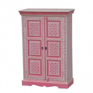 Pandora Hand Painted Cabinet Pink Geometry