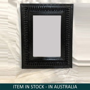 Solid Wood Indian Black Mirror Frame 90x120 cm