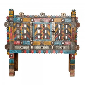 Damchiya Mid 20th Century Manjus Dowry Cabinet Multicolored