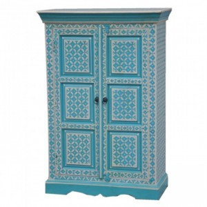 Pandora Hand Painted Cabinet Blue Geometry