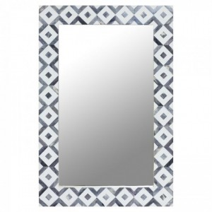 Maaya Bone Inlay Mirror Frame - Gray 60x5x90cm
