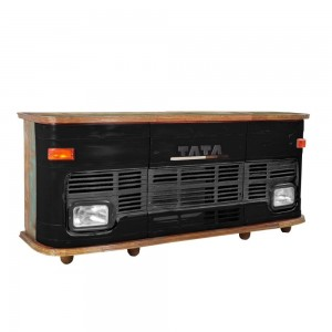 Transport Metal Industrial Jodhpur Truck Home Commercial Bar Counter Black