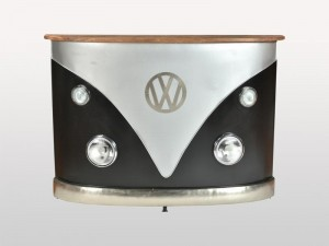 Transport Vintage VW Combi Car Bar Counter Black