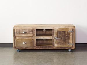 Cromer Indian Solid Wood Tv Unit Media Cabinet