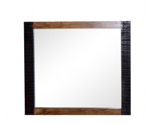 MADE TO ORDER Indian Lyon Wooden Frame with Mirror Brown 100x90 cm