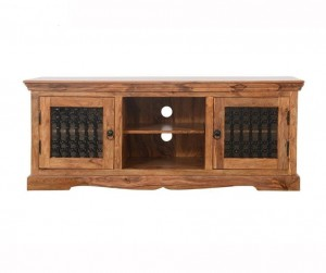 Indian Solid Wood TV Unit  Natural 150 x 45 x 60 Cm