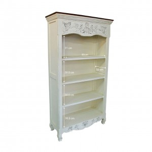 French Blanc Wooden Bookcase