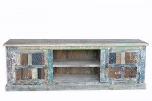 Rainbow Reclaimed Antique Vintage TV Cabinet 153X45X61 CM