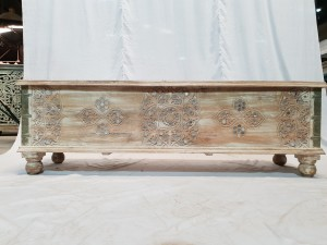 Solid wooden mirror rustic treasure chest storage blanket box coffee table