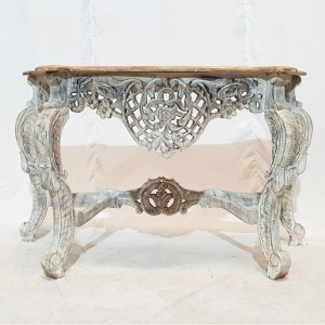 Antique Hand Carved solid wood Hall Table White 120x44X75cm