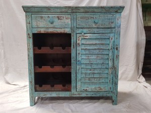 Indian Rustics Reclaimed Solid Wooden Beautiful Buffet Cabinet Sideboard 97x41x102cm