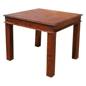 Boston Rustic Solid Wood Square Dining Table Brown