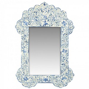 Maaya Bone Inlay Mirror Frame - Floral Design 75x5x104cm