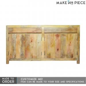 BOSTON Contemporary Mango Wood Sideboard Natural