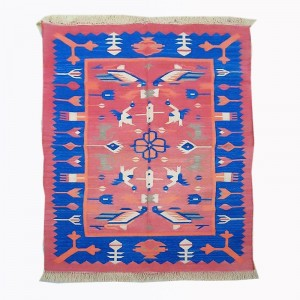 Kilim Wool Handwoven Cotton Dhurrie Durry Rug Jute Floor Covering Pattern 22