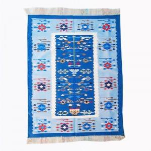 Kilim Wool Handwoven Cotton Dhurrie Durry Rug Jute Floor Covering Pattern 24