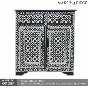 PANDORA hand painted bone inlay sideboard Black