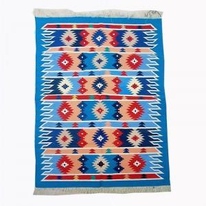 Kilim Wool Handwoven Cotton Dhurrie Durry Rug Jute Floor Covering Pattern 25