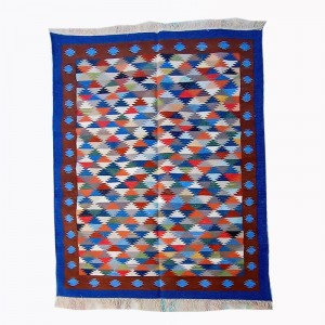 Kilim Wool Handwoven Cotton Dhurrie Durry Rug Jute Floor Covering Pattern 26