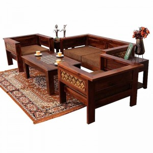 Mogra Antique Brass Work lounge setting sofa solid wood, sheesham sofa set, brass sofa set